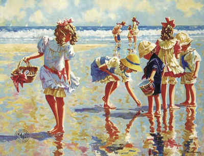 Seaside Mementos- Signed By The Artist – PaperLithograph  – Limited Edition  – 550S/N  –  15 3/4x19 5/8