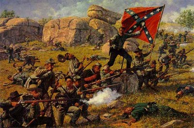 Devil's Den – Gettysburg- Signed By The Artist – CanvasLithograph  – Limited Edition  – 195S/N  –  20x30  –