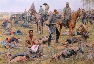 The Grim Harvest Of War – The Valley Campaign- Signed By The Artist – CanvasLithograph – Limited Edition – 195S/N – 20x30