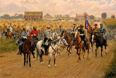 Lee Deliberates Heth's Advance – Gettysburg- Signed By The Artist – CanvasLithograph  – Limited Edition  – 195S/N  –  20x30  –