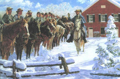 Taking The Oath – John Mosby And His Rangers- Signed By The Artist – CanvasLithograph – Limited Edition – 195S/N – 20x30