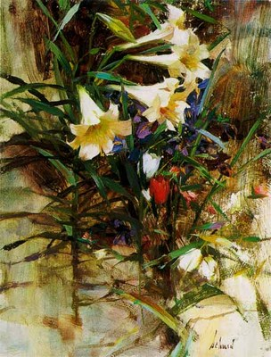 Lilies- Signed By The Artist – PaperLithograph – Limited Edition – 850S/N – 11 3/4x8 7/8
