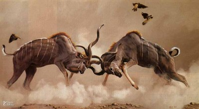 The Duel- Signed By The Artist – CanvasGiclee  – Limited Edition  – 180S/N  –  20x36