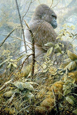 High And Mighty – Gorilla- Signed By The Artist – PaperLithograph – Limited Edition – 950S/N – 29 1/8x19 3/8