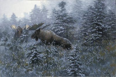 Suitors – Challenge In The Mist- Signed By The Artist – PaperLithograph – Limited Edition – A/P – 17 1/2x26 1/2