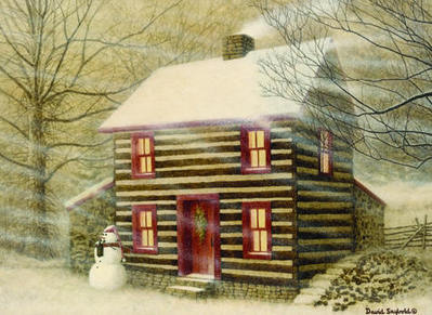 The Cabin Keeper- Signed By The Artist								 – Paper Lithograph – Limited Edition – 500 S/N – 10 1/2 x 14 1/2 –