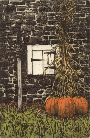 Lancaster Pumpkins- Signed By The Artist – PaperEtching  – Limited Edition  – 50S/N  –  9x6  –