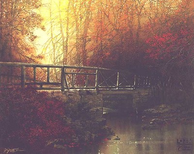 Old Wooden Bridge- Signed By The Artist								 – Canvas Giclee – Limited Edition – 180 S/N – 26 x 32