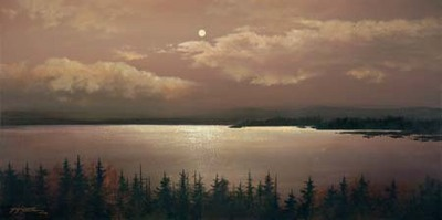 Tranquil Moonlight- Signed By The Artist								 – Canvas Giclee – Limited Edition – 180 S/N – 24 x 30