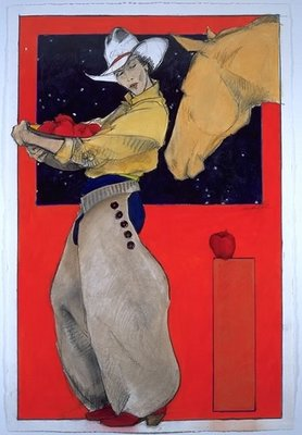 Apples For The Yellow Mare- Signed By The Artist								 – Paper Giclee – Limited Edition – 175 S/N – 30 x 20