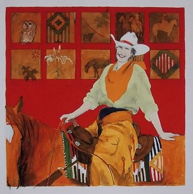 Back In The Saddle- Signed By The Artist								 – Paper Giclee – Limited Edition – 125 S/N – 20 x 20