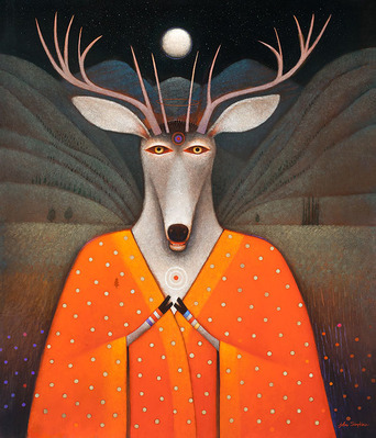 Deer Edward- Signed By The Artist – CanvasGiclee  – Limited Edition  – 50S/N  –  28x24