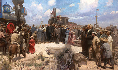 Golden Spike Ceremony- Signed By The Artist – CanvasGiclee  – Limited Edition  – 45S/N  –  32x50