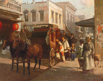 Pacific Carriage Co., San Francisco, 1905- Signed By The Artist								 – Canvas Giclee – Limited Edition – 50 S/N – 30 x 38