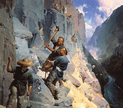 The Powder Monkeys, Cape Horn, 1865- Signed By The Artist								 – Canvas Giclee – Limited Edition – 25 S/N – 47 x 41 –