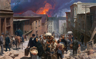 San Francisco, April 18, 1906- Signed By The Artist								 – Canvas Giclee – Limited Edition – 100 S/N – 21 x 35