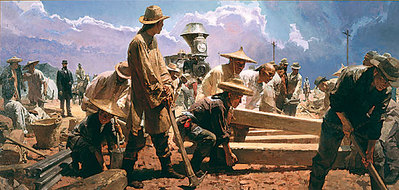 Ten Miles In One Day, Victory Camp, Utah, April 28, 1869- Signed By The Artist – CanvasGiclee  – Limited Edition  – 75S/N  –  18x37