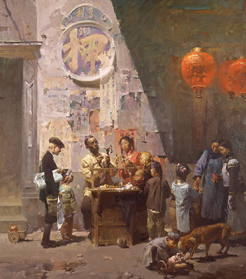 The Toymaker Of Ross Alley, San Francisco, 1906- Signed By The Artist								 – Canvas Giclee – Limited Edition – 75 S/N – 43 x 37