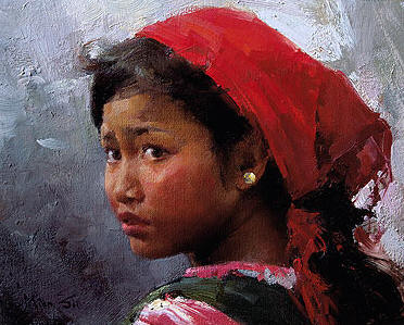 Wa Girl- Signed By The Artist – CanvasGiclee  – Limited Edition  – 150S/N  –  8x10