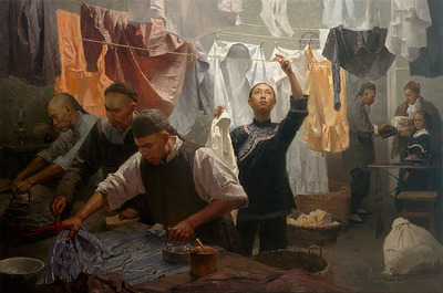Chinese Laundry- Signed By The Artist – CanvasGiclee  – Limited Edition  – 25S/N  –  25x37