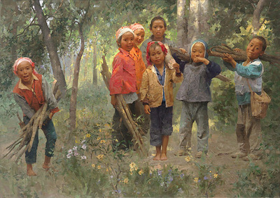 Firewood Gang- Signed By The Artist – CanvasGiclee  – Limited Edition  – 45S/N  –  17x24
