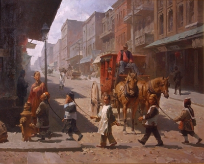 The Overseer, San Francisco, 1905- Signed By The Artist								 – Canvas Giclee – Limited Edition – 50 S/N – 34 x 43