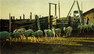 Chauncey's Corrals- Signed By The Artist – PaperLithograph  – Limited Edition  – 1300S/N  –  17x34