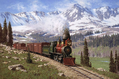 Colorado Narrow Gauge- Signed By The Artist								 – Paper Lithograph – Limited Edition – 850 S/N – 22 1/2 x 34