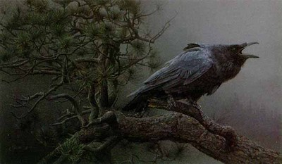 Cry Of The Raven- Signed By The Artist – PaperLithograph  – Limited Edition  – 650S/N  –  13x22 1/4