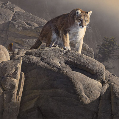 On The Edge- Signed By The Artist – CanvasGiclee – Limited Edition – 75S/N – 25x25 –