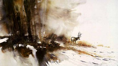 Afternoon Shadows – Mule Deer- Signed By The Artist – PaperLithograph  – Limited Edition  – 950S/N  –  17x29 3/8  –