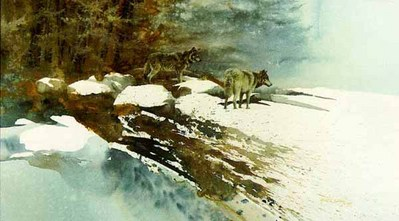 Challenge Of The Wild- Signed By The Artist – PaperLithograph  – Limited Edition  – 1500S/N  –  18 1/2x33
