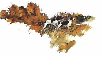 On Scent – German Shorhairs- Signed By The Artist								 – Paper Lithograph – Limited Edition – 950 S/N – 15 x 24 3/8 –