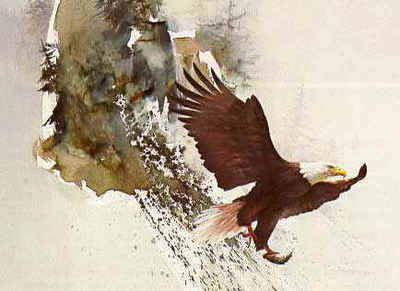 On Silent Wings- Signed By The Artist								 – Paper Lithograph – Limited Edition – 950 S/N – 19 x 26 1/4