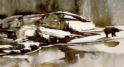 Winter Reflection- Signed By The Artist								 – Paper Lithograph – Limited Edition – 950 S/N – 20 3/4 x 34