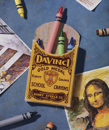 Dedicated To Da Vinci- Signed By The Artist – CanvasGiclee  – Limited Edition  – 75S/N  –  18x15