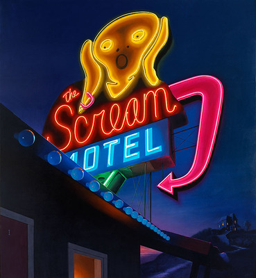 Scream Motel- Signed By The Artist – CanvasGiclee  – Limited Edition  – 50S/N  –  26x24