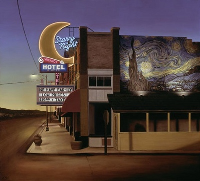 Starry Night Hotel- Signed By The Artist – CanvasGiclee  – Limited Edition  – 50S/N  –  26x29