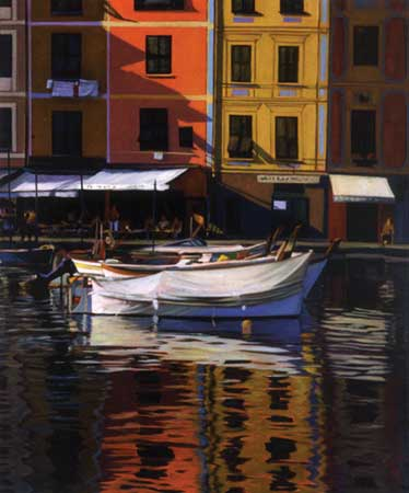 Harbor Patterns- Signed By The Artist								 – Canvas Giclee – Limited Edition – 350 S/N – 24 x 20