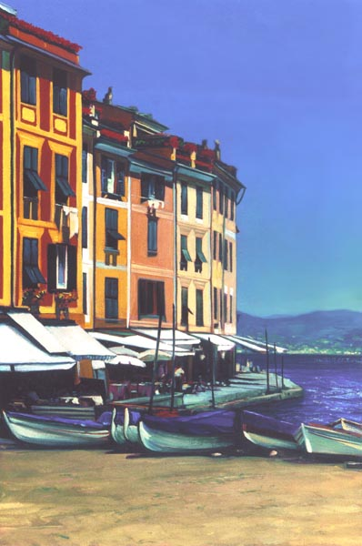 Portofino Cove- Signed By The Artist – PaperGiclee – Limited Edition – 230S/N – 23x15 3/8
