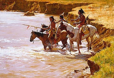 Crossing At The Ford- Signed By The Artist – CanvasGiclee – Limited Edition – 450S/N – 21 3/4x32