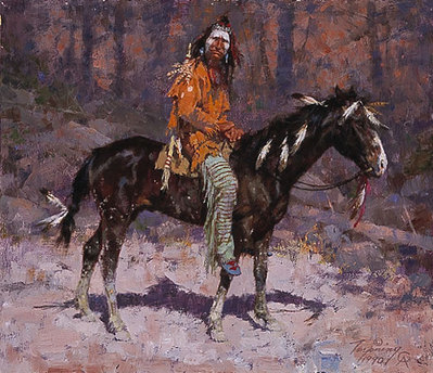 Horse Feathers- Signed By The Artist – CanvasGiclee – Limited Edition – 975S/N – 13 1/8x15 1/4