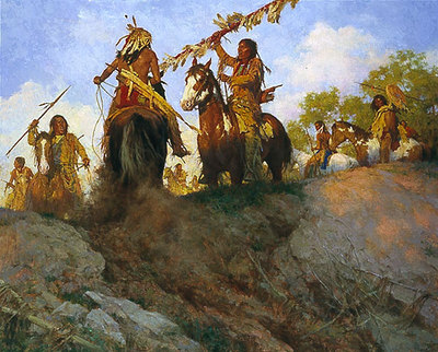 Sunset For The Comanche- Signed By The Artist								 – Canvas Giclee – Limited Edition – A/P – 38 x 48