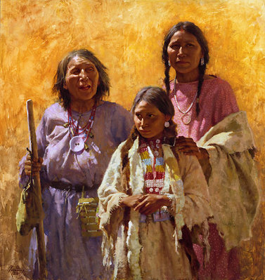 Three Generations- Signed By The Artist								 – Canvas Giclee 								 – Limited Edition 								 – 550 S/N 								 –  								30 x 28