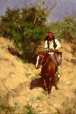 Apache Scout- Signed By The Artist								 – Canvas Giclee – Limited Edition – 125 S/N – 15 x 10