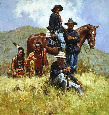 Before The Little Big Horn- Signed By The Artist								 – Paper Lithograph – Limited Edition – 1000 S/N – 22 x 21 –
