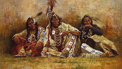 Blackfeet Spectators- Signed By The Artist – PaperLithograph – Limited Edition – 475S/N – 19 1/2x34