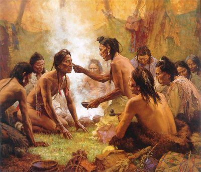 Blessing From The Medicine Man- Signed By The Artist – CanvasGiclee – Limited Edition – 732S/N – 24x28