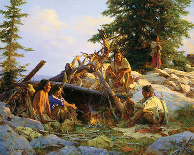 Camp At The Cougar's Den- Signed By The Artist								 – Canvas Giclee – Limited Edition – 325 S/N – 36 x 45