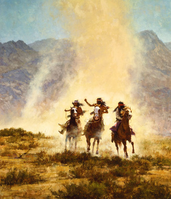 Chased By The Devil- Signed By The Artist – CanvasGiclee – Limited Edition – 35A/P – 37x30 –